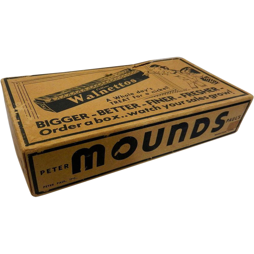 Vintage Mounds Candy Bar Display Box from mygrandmotherhadone on Ruby ...