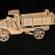Vintage Cast Iron Dump Truck