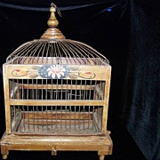 SALE Vintage/Antique Wood and Wire Bird Cage