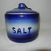 Vintage English Ironstone Salt Cellar
