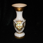 Vintage Moser Glass Hand Painted Vase