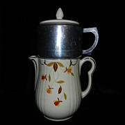 Vintage Jewel Tea, Autumn Leaf Coffee Pot with  Metal Drip-O-lator