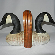 Vintage Jennings Decoy Co. Canadian Geese Bookends