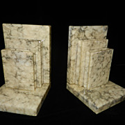 Vintage Onyx Book Bookends