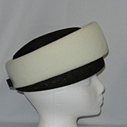 Vintage Anita Pineault Felt Pill Box Hat