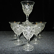 Vintage Diamond or Star Pattern Cordials