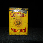 Vintage Coleman's 1/2 Pound Mustard Tin