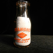 Vintage Pyro  Milk Bottle - Diamond Dairy