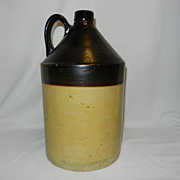 Vintage RCP Co. Akron Ohio Stoneware Whiskey Jug
