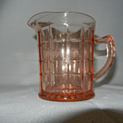 Pink Depression Hazel Atlas Colonial Block Creamer