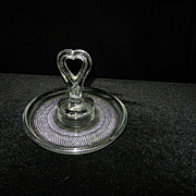 Vintage Duncan Miller Teardrop Heart Handel Mint Tray