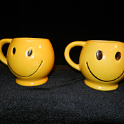 Vintage McCoy Happy Face Coffee Mugs