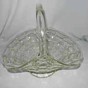 Vintage Indiana Glass Constellation Pattern Crystal Basket