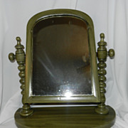Antique Wood Vanity or Shaving Mirror