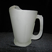 Vintage Tiara Frosted Satin Glass Pitcher