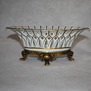 Reticulated oval Italian pierced porcelain Bowl