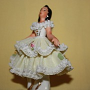 SOLD Dresden Porcelain, Lace Figurine,