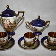 Vintage Demitasse Bohemia/Austria Porcelain Tea Pot Set