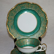 Porcelain Trio Set Plate Cup Saucer Germany