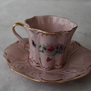 Porcelain Cup/ Saucer Czech Republic Handpainted