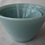SOLD Vintage Fire King Delphite Splash Proof Mixing Bowl Set of 3