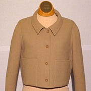 SALE Vintage 1970's Geoffrey Beene Tan Wool Jacket