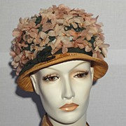SALE 1960's Annemarie Claus Floral Hat