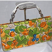 Vintage 1960's L & M Bright Print Handbag by Edwards