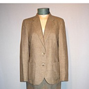 SALE Vintage 1970's 2 Piece Lambswool Tweed Suit Made by Burberrys'