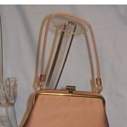 Vintage 1960's Cocoa Brown Satin Evening Purse by JR