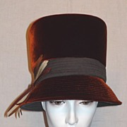"Vintage 1960's Velvet ""High Hat"" by Mr. John Classic"
