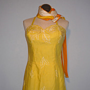 Vintage Tina Leser Original By GaBar Yellow Swimsuit Possibly NOS