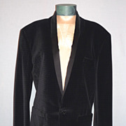1980's Velvet Evening/Dinner Jacket Designed by Gianni Versace