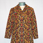 Vintage 1970's Colorful Bicentennial Tapestry Coat