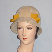 Vintage 1960's Ivory Fur Felt Hat Styled by Mr. John Jr.