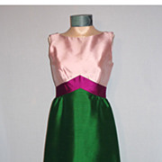 1960's Elegant Custom Made Formal Evening Gown