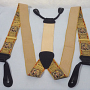 SALE Limited Edition Horse Race Ticket Suspenders/Braces Made by Trafalgar