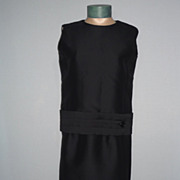 Vintage 1960's Black 2 Pc. Dress Designed by Geoffrey Beene