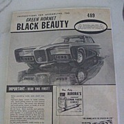 SALE Original Instructions for Assembling Aurora Green Hornet Black Beauty Car