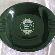 SALE Large Vintage Ashtray Carlsberg Export Copenhagen