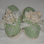 SALE Vintage Pair of Knit Booties