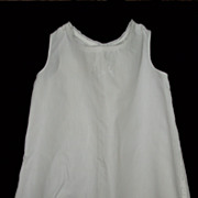 SALE Vintage White Cotton Slip For Child or Doll
