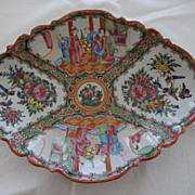 Antique Chinese Rose Canton Porcelain Serving Dish