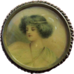 Art Nouveau Lady Pin Dated 1906 Backed With A Military Pin