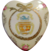 Town of Eastbourne Victoria  Austria Hallmarked Porcelain Heart-Shaped Box
