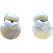 Mother of Pearl Turn of the Century Flower-Shaped Cufflinks