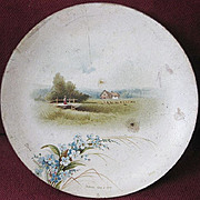 Raphael Tuck & Sons Signed & Dated 1886 Victorian Miniature Paper Plate