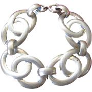 1940's Vintage Brass Double Link Bracelet