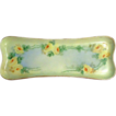 Yellow Rose Porcelain M &Z Austria -  Moritz Zdekauer  - Turn of the Century Pin Tray