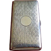 Sterling Art Deco Hallmarked Evening Cigarette Case